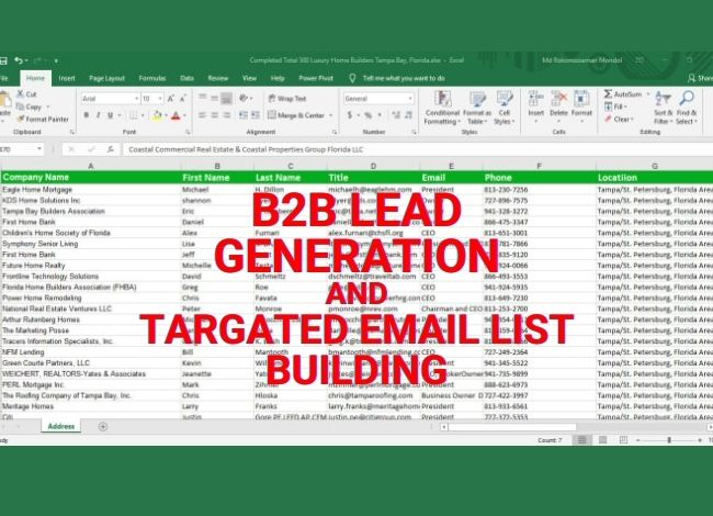I will collect 35 targeted lead for your business.