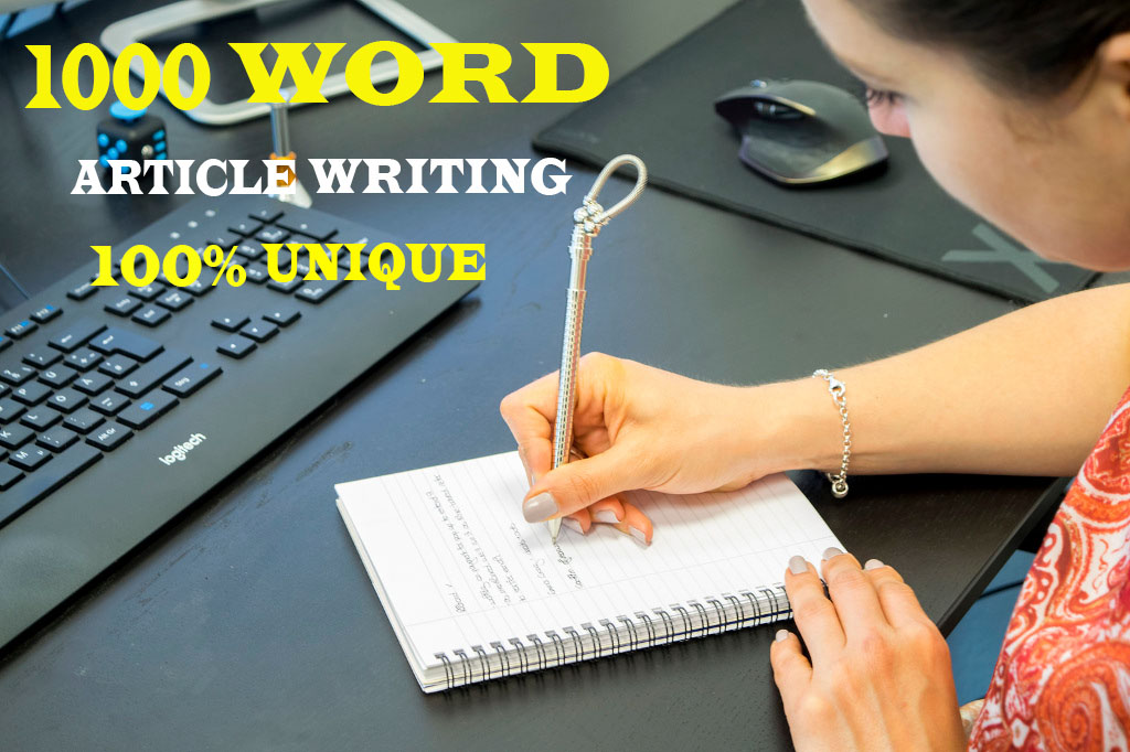write 1000 word unique article writing or blog post in english for any topic