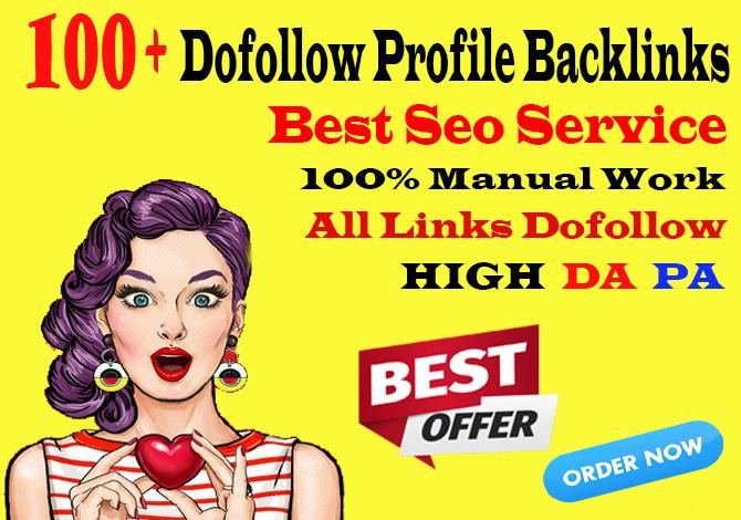 manually create 100 pr9 da 90 high authority dofollow profile backlinks