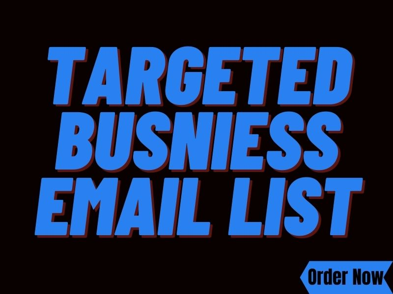 Provide targeted email list for only business email