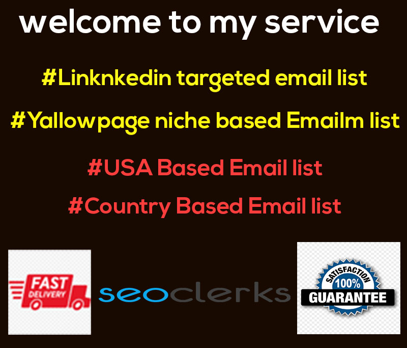I will provide you 3k niche based Active And genuine targeted email for marketing.