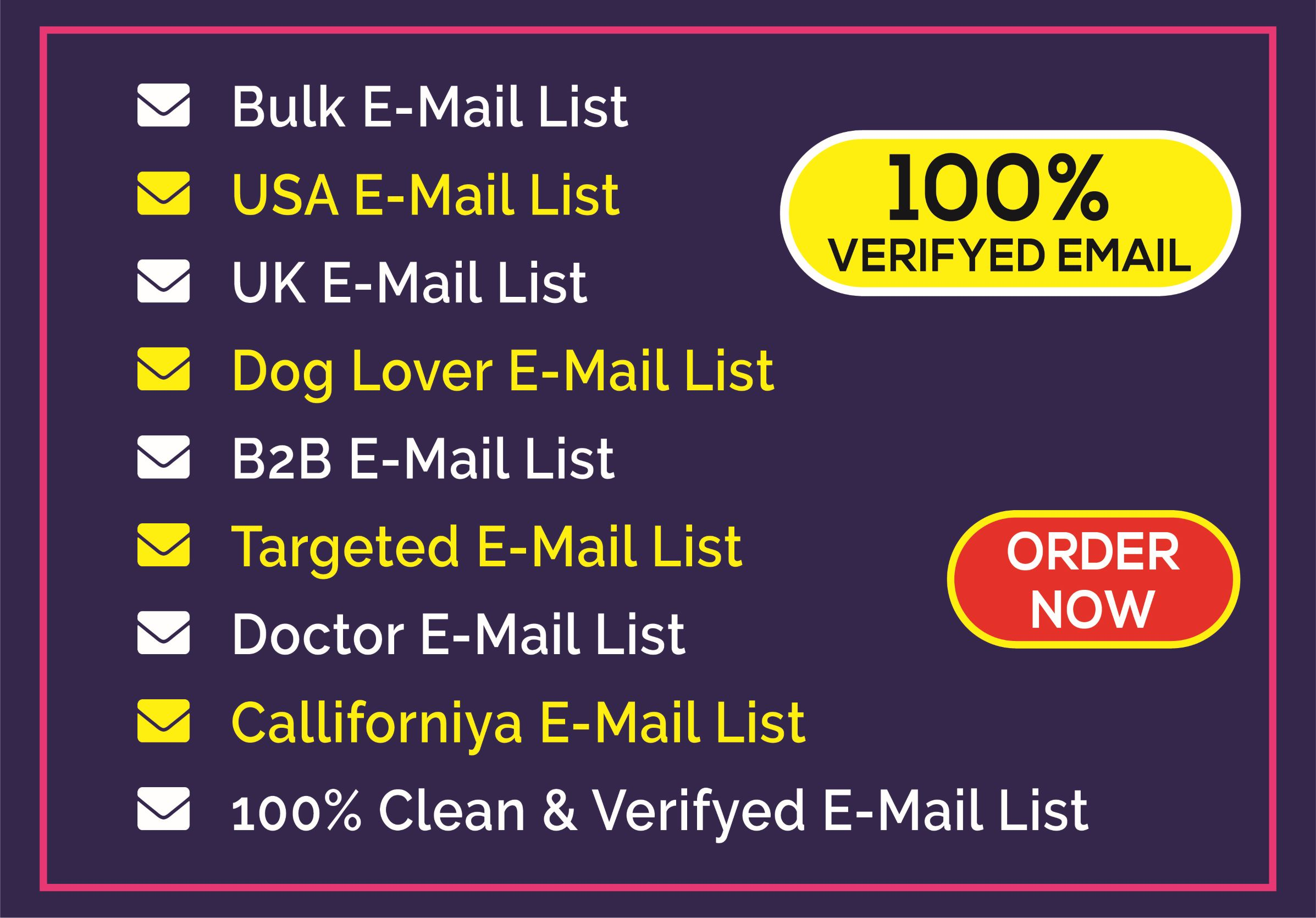 I will provide 5k clean and verify targeted email list for your business