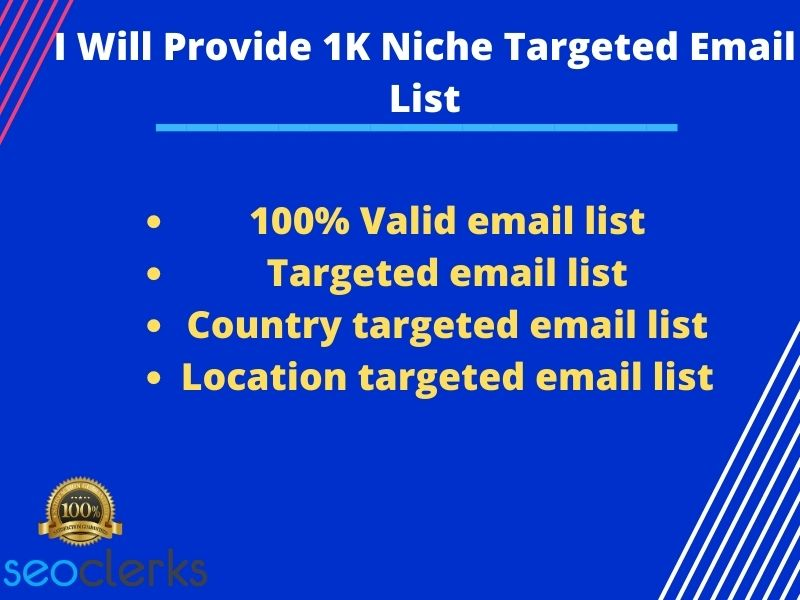 Provide 1k niche targeted email list