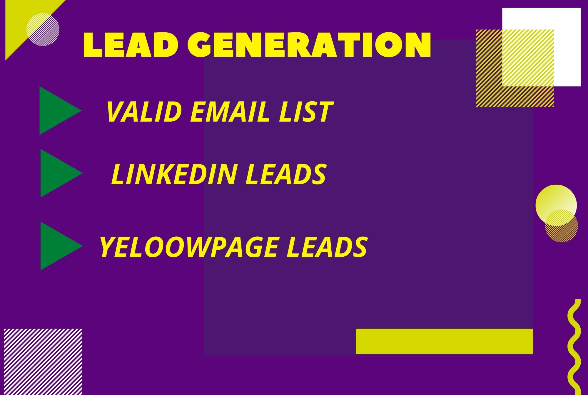 I will provide targeted valid email list form USA or UK and CANADA base