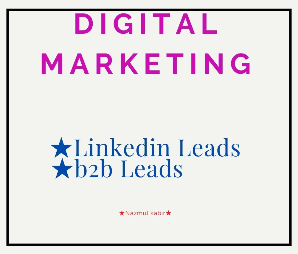 I Will Provide B2B Lead,LinkedIn Lead Generation