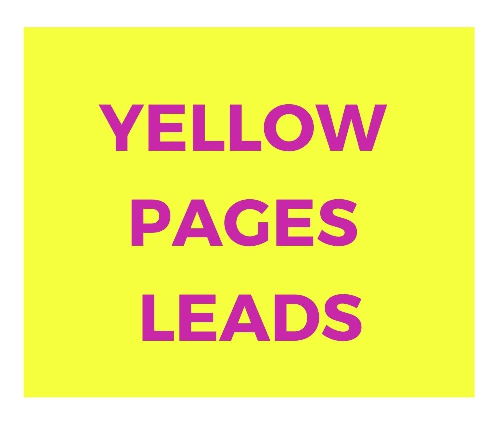 If You want Yellow pages leads