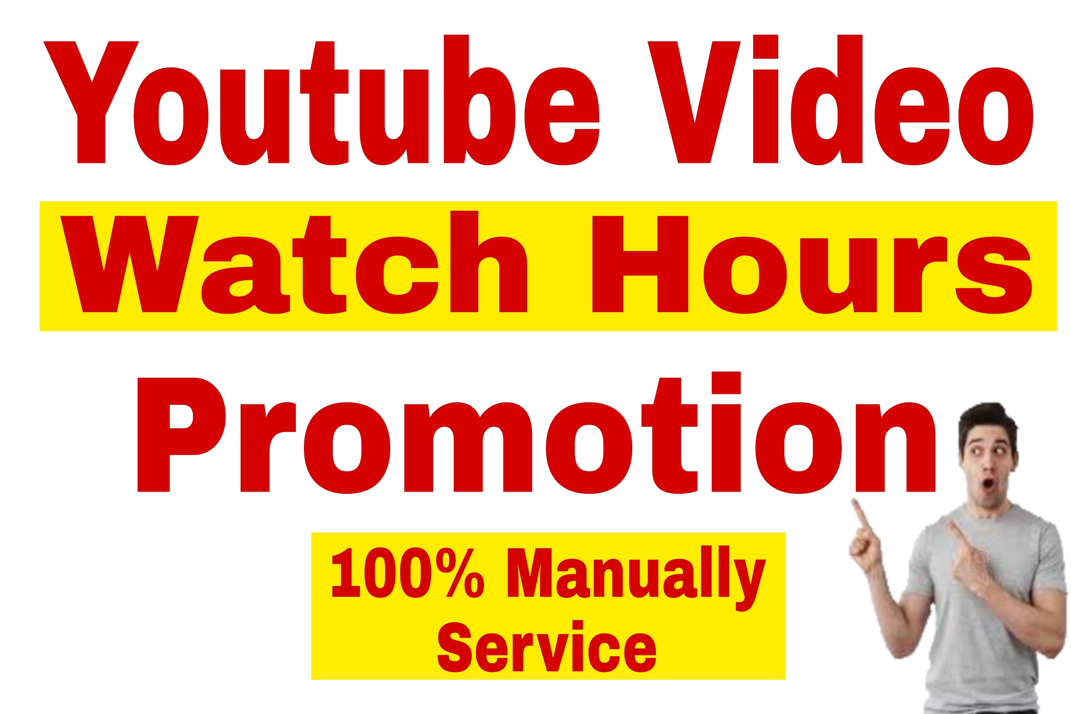 Youtube Video Watch Time Hours Promotion Very Fast Delivery