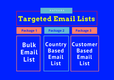 Collect Bulk/Country Based email list for email campaign