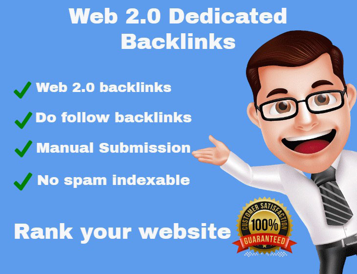 I will create 100 High DA PA web 2 0 blogs backlinks