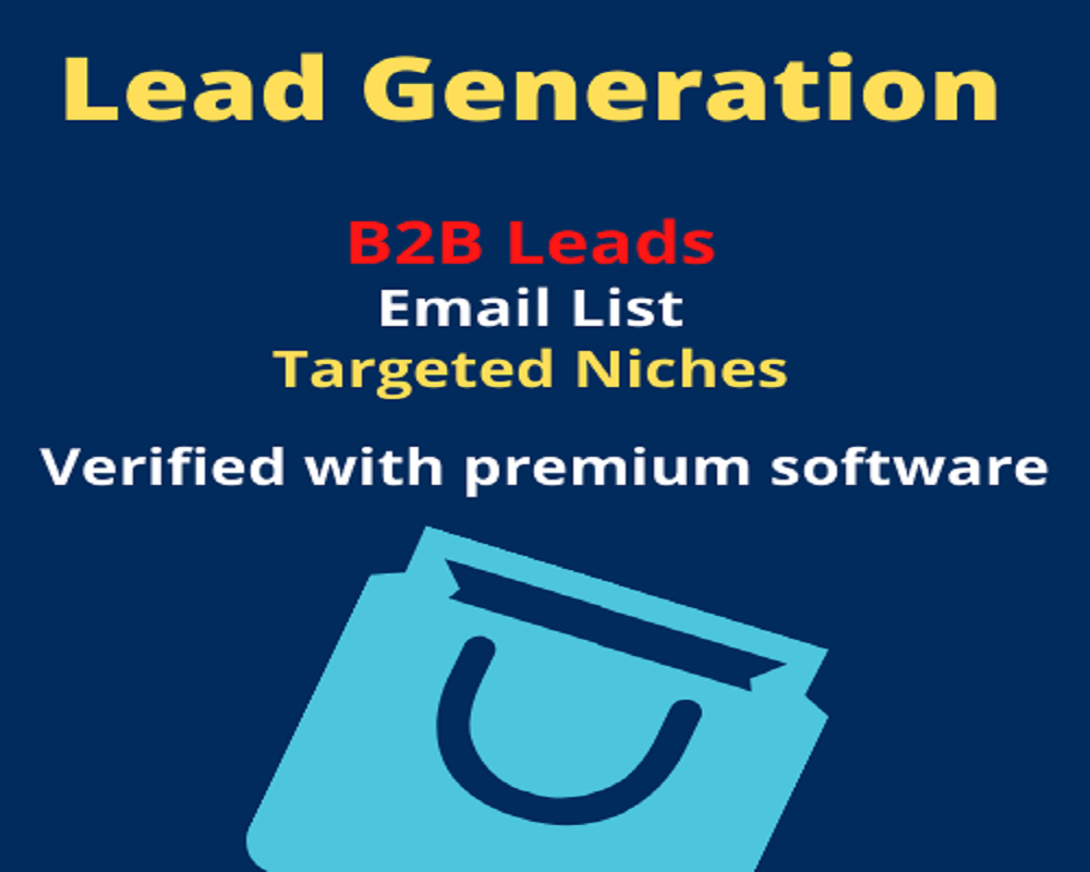 I will supply you B2B lead according to your targeted niche