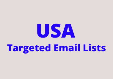 Get USA Targeted Email Lists with 100% validation Guarantee