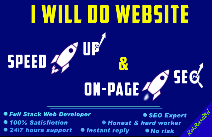 I will Speed Up and On Page SEO for your Website.