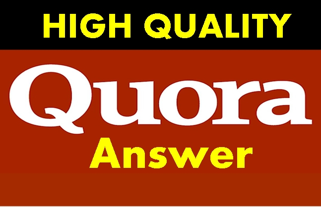 I will Create 20 Quora answers on your Niche relevant Questions