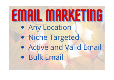 I will collect Valid,  Niche and Location-Targeted Email list clean and verified