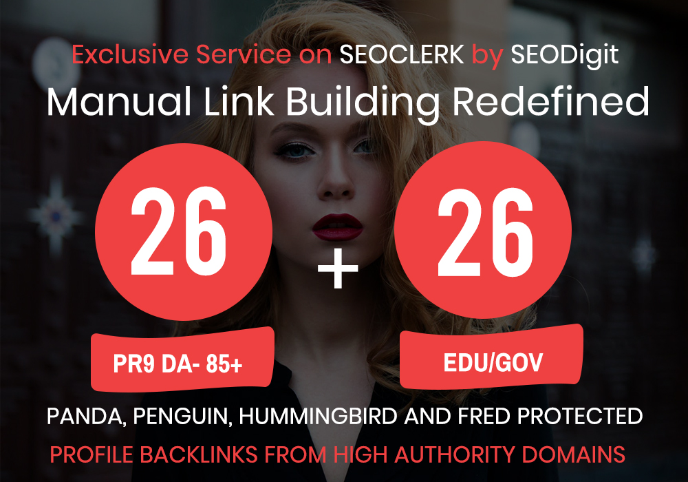 create 26. EDU/. GOV+ 26 PR9 High Authority Backlinks- Panda,  Penguin and Hummingbird