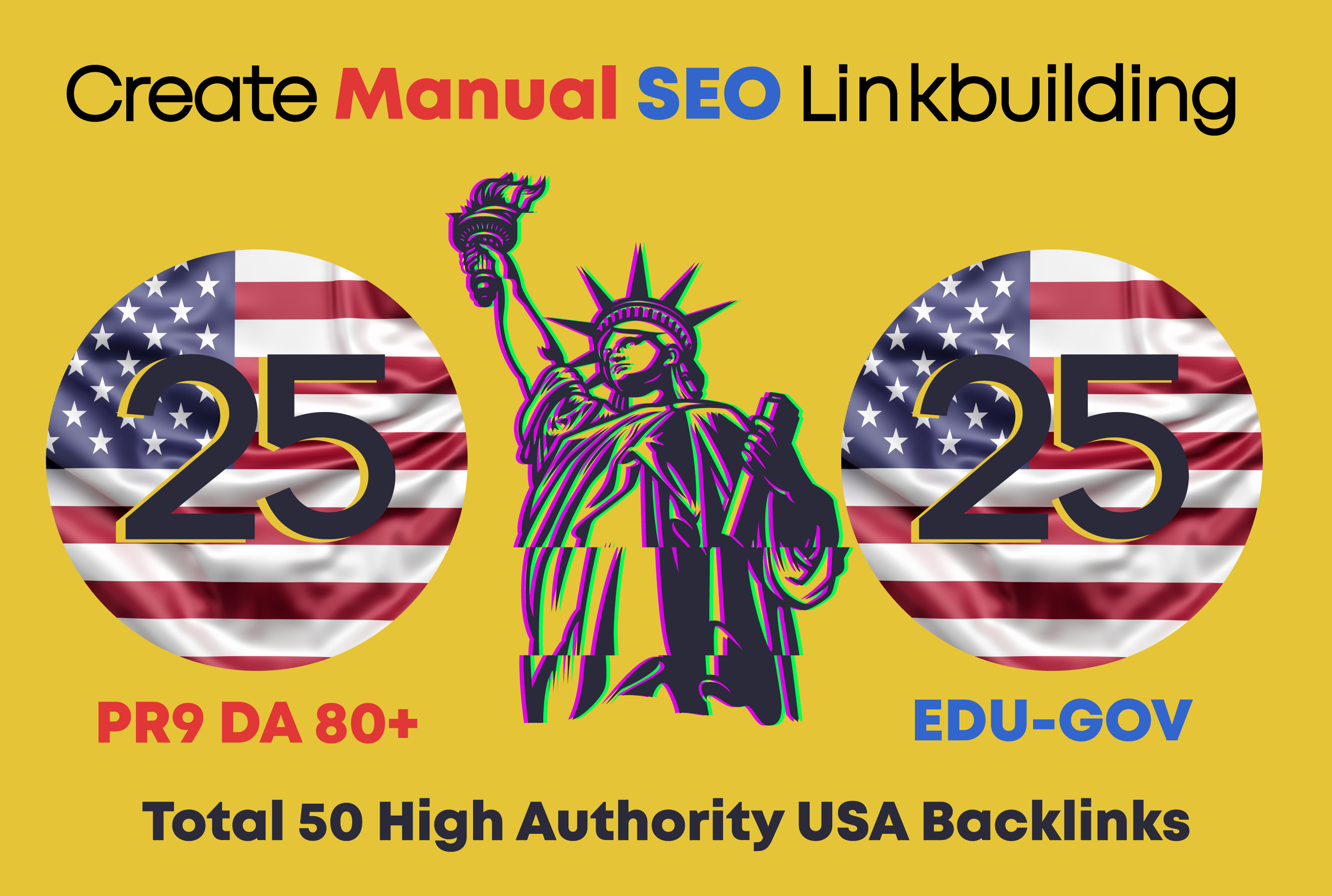 do 50 high da pr9 backlinks with best google rank,  off page seo