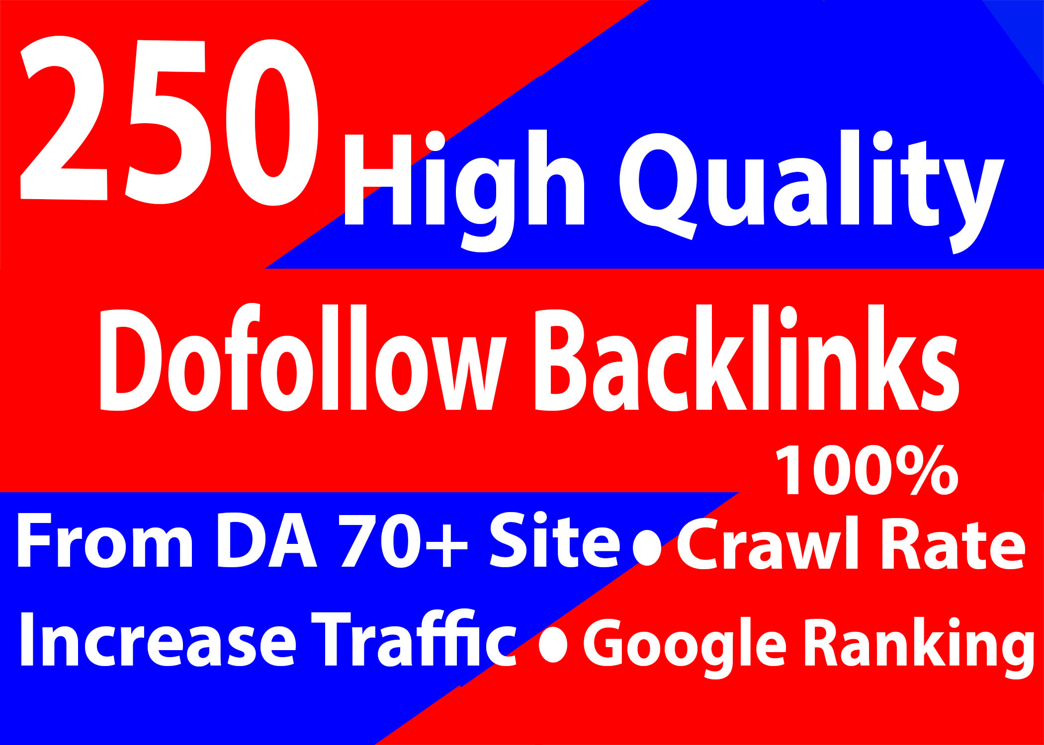 build 70 high quality dofollow SEO backlinks