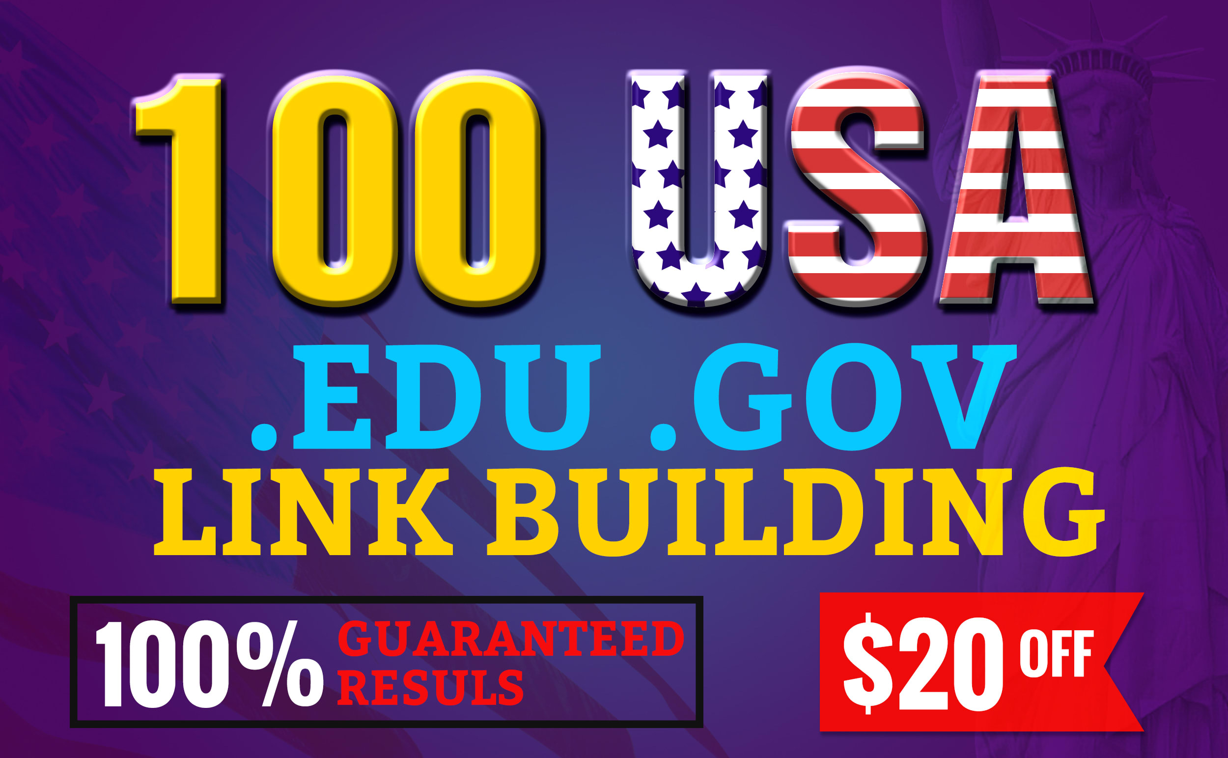 do organic google rank with 100 USA backlinks, link building
