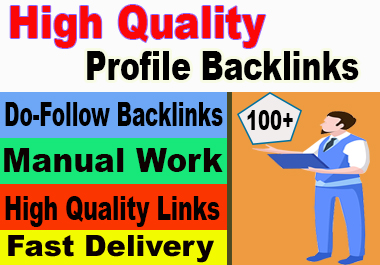 I will build manually 100 HQ Profile Backlinks