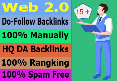 I will Create Manually Web 2.0 Backlinks Boost your website Ranking on Google