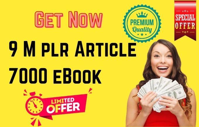 Get 9 million plr article & 7000 mrr ebooks