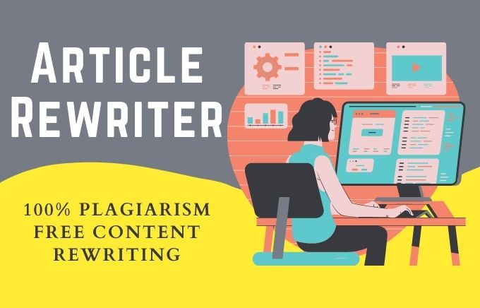 I will manually rewrite 500 Word SEO article plagiarism free assignment,  rewrite content