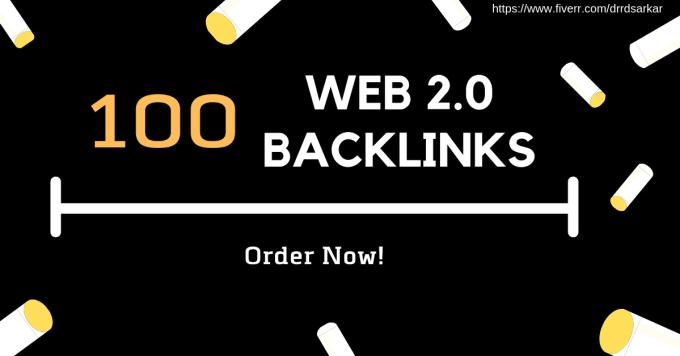 I will Provide 100 Web2.0 Dofollow Backlink SEO With High DA> Pa> Rank your Website