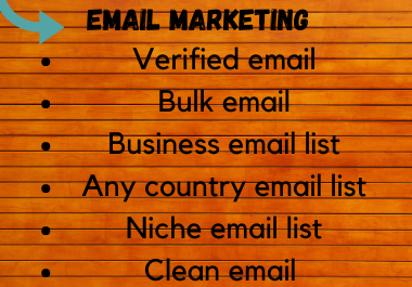 I will do 5k targeted bulk email collection and active email listing