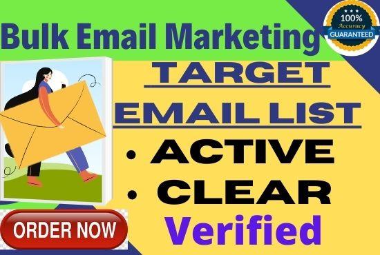 provide 20k bulk email list verified clear