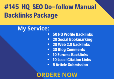 I will provide manual high quality off backlinks package