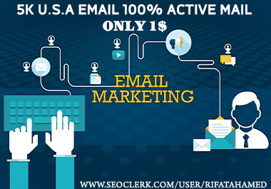 I will provide USA 5k real active targeted email list