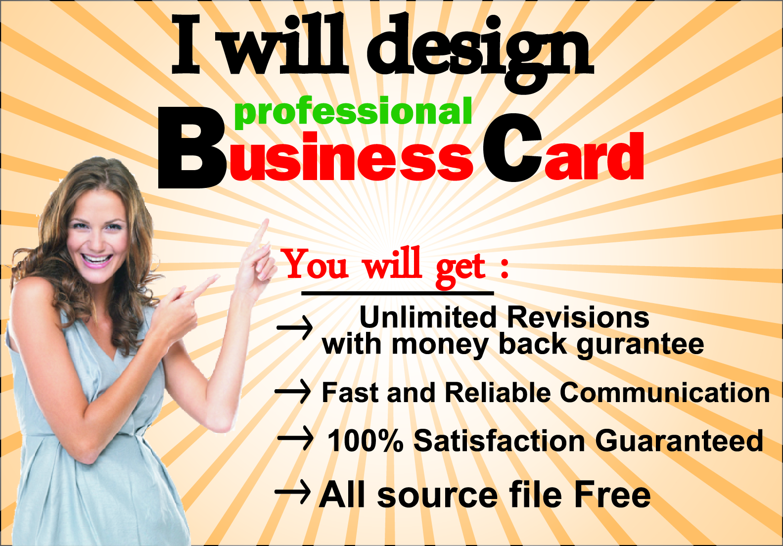I will create a perfect killer business card and other design.