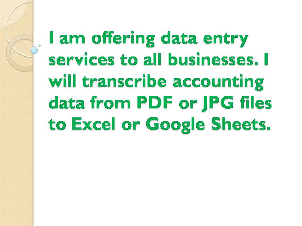 I will provide professional data entry services