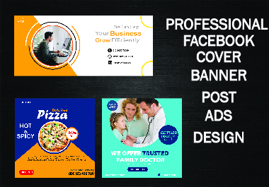 I will Design professional facebook cover,social media post design and ads that looks amazing