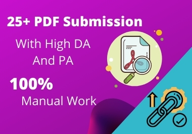 Provide 25+ Pdf submission on google rank