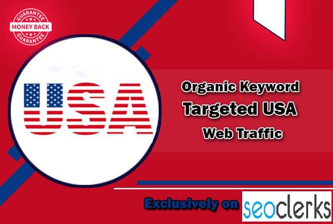 I will drive organic keyword targeted USA web traffic