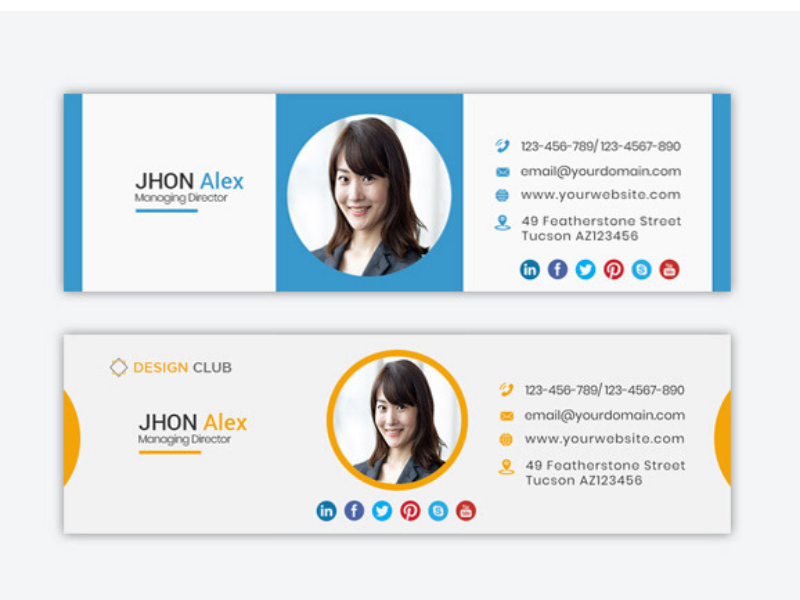 I will create a professional eye catching clickable editable HTML email signature