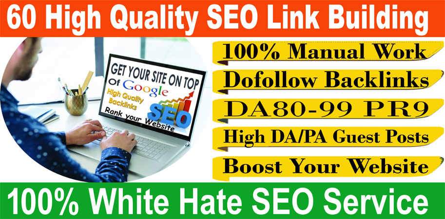 I will build 60 high quality SEO link building for your site
