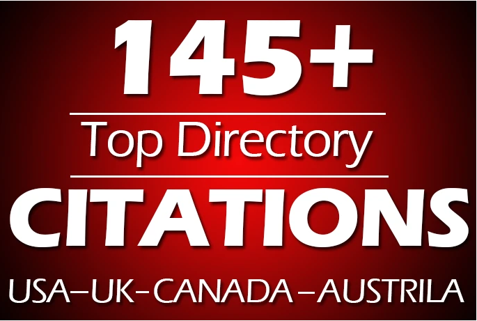 I will do 145 directory citations for usa,  uk,  canada local SEO