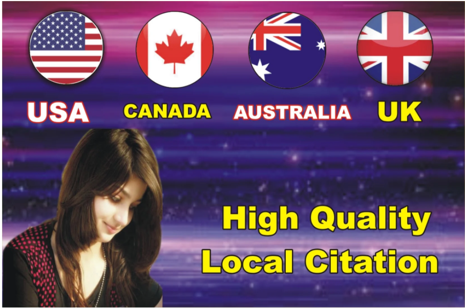 I will creat UK,  usa,  aus,  canada country local citations 25 backlinks