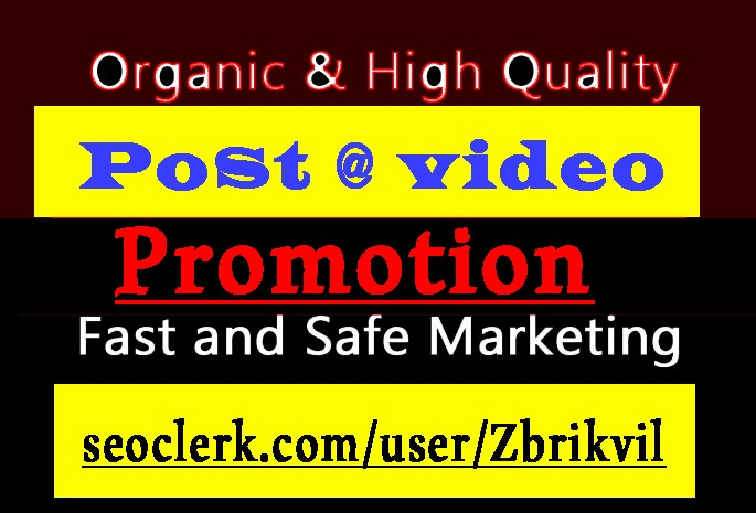 Super Fast Video and Post Promotion and Marketing