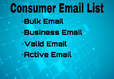 1000 Targeted Consumer Email List