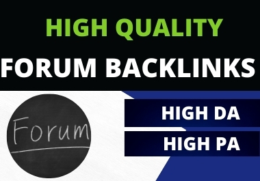 Submit 50+ Forum posting backlinks for any blog