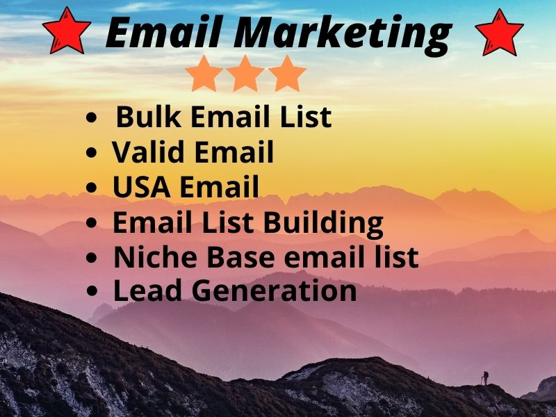 I will Provide 1k-10k valid Email List