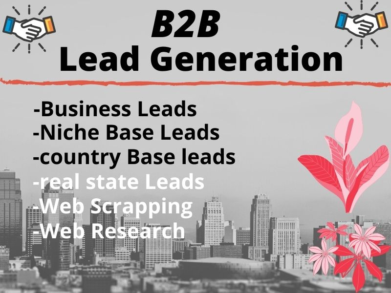 I Will provide B2B Leads & Targeted Leads