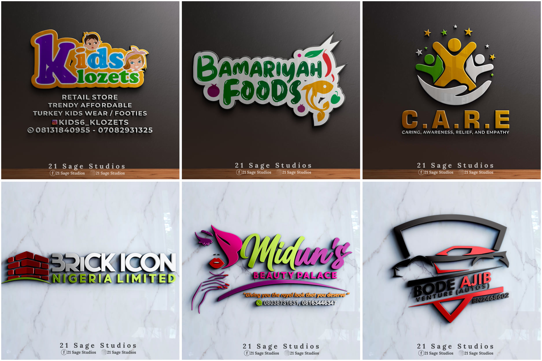I will design an exceptional and unique 3D Business Logo for your Brand