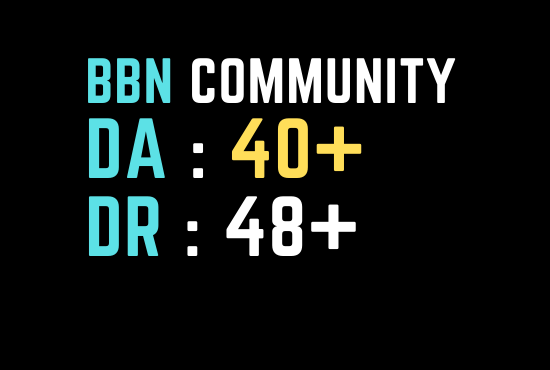 I will Do guest post on bbncommunity