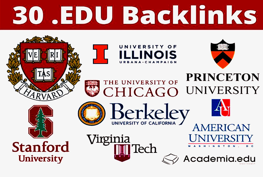 30 Edu Backlinks High DA SEO Authority Tier 2 Backlinks - Fire your Google Ranking