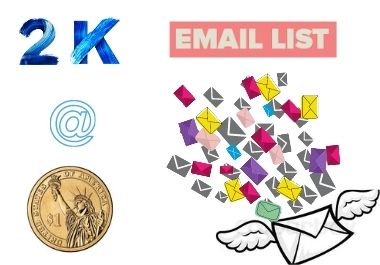 I will provide 2000 bulk email for your marketing