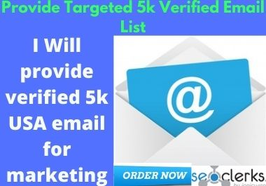 I Will provide verified 5k USA email for marketing